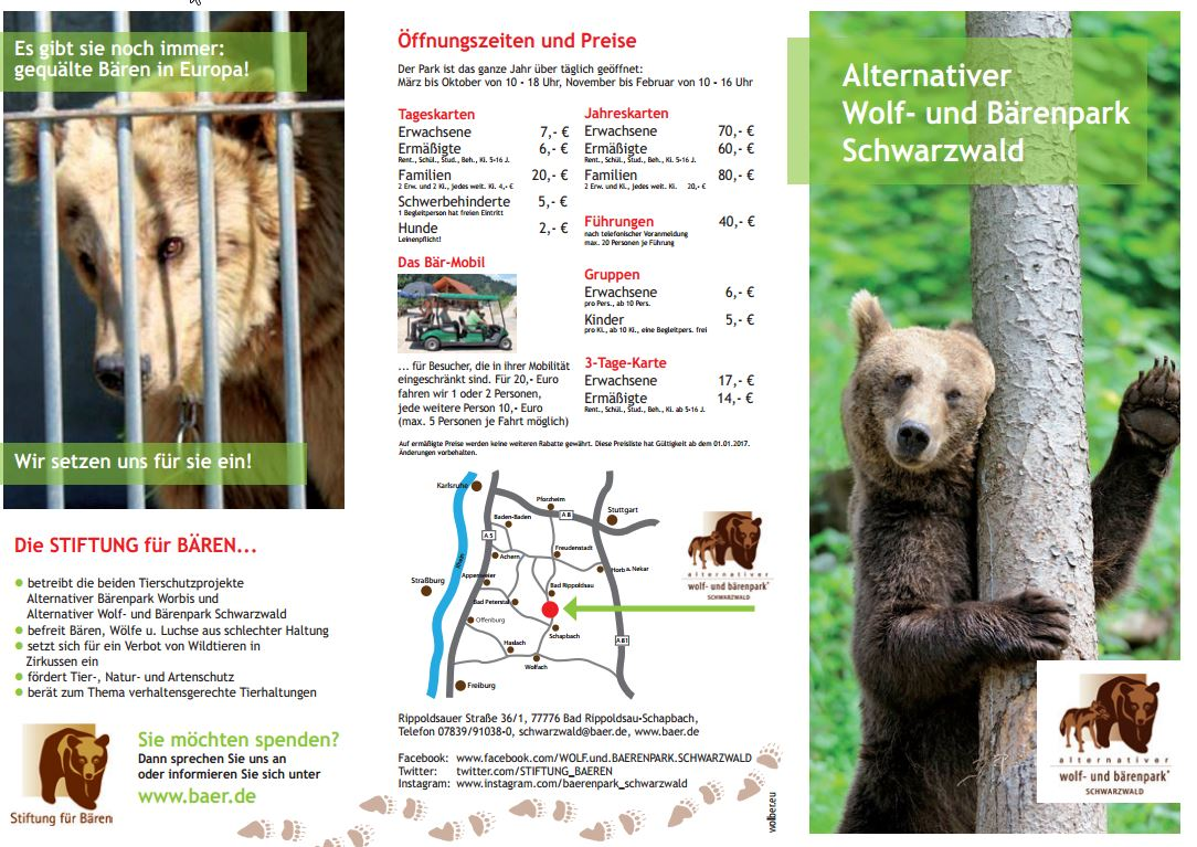 download flyer baerenpark schwarzwald deutsch