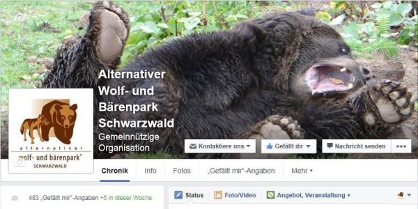 Facebookseite Bärenpark Schwarzwald
